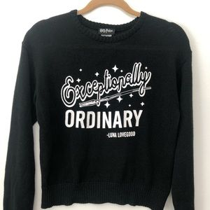 Harry Potter Exceptionally Ordinary Sweater XS